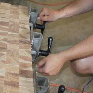 ClampRackGlueUpTighten1-300x300 Clamp-Rack-Glue-Up-Tighten-Hickory-End-Grain-Block