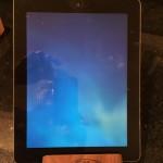 iPad wooden srand