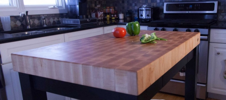 Kitchen End Grain Carts