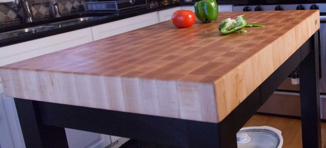 Butcher Block Chopping Block End Grain Carts